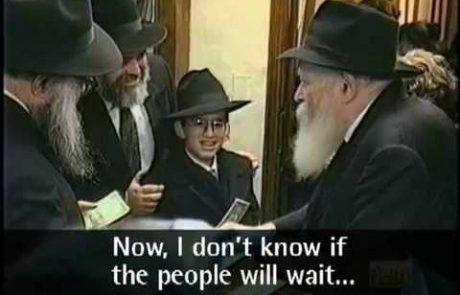 The Lubavitcher Rebbe Blesses Bar/Bat Mitzvah Celebrants