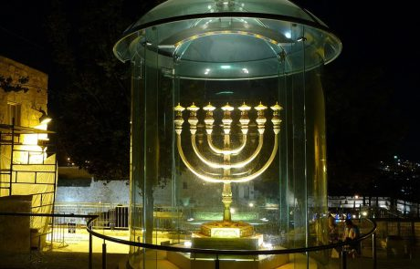 A Replica of the Temple's Menorah in the Old City of Jerusalem